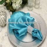 Satin Napkin Turquoise
