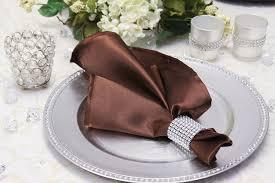 Satin Napkin Chocolate
