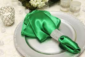 Satin Napkin Kelly Green