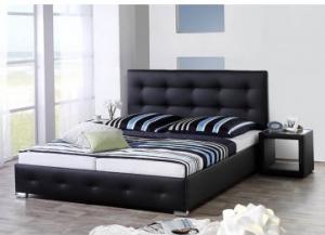 Bed Joey Black (160x200cm) - including mattress - (Bundle Product)