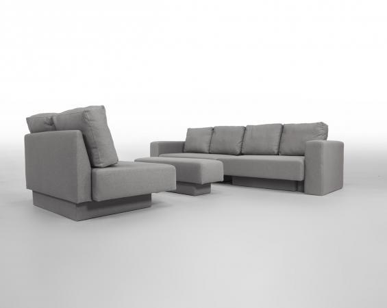 Modular Sofa Set Feydom Choice 5 Premium - Grey