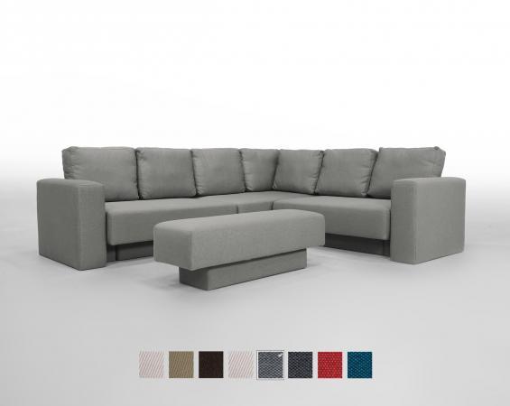 Corner Sofa set Feydom Choice 5 Premium Modular Sofa -  Grey Fabric: FF-14 oder ET-14