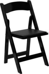 Folding Chair Wood Black